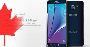 galaxy note 5 pricing in canada