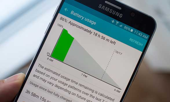 save battery life on galaxy note 5