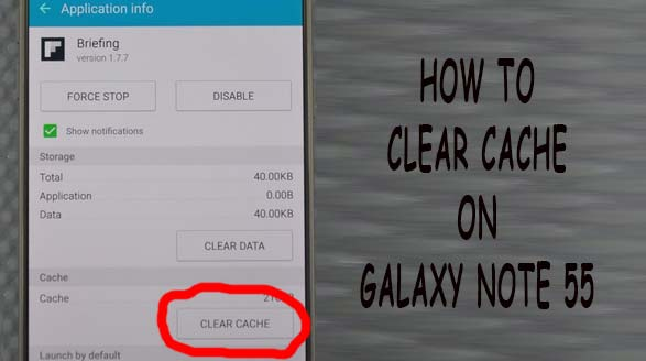 clear cache note 5